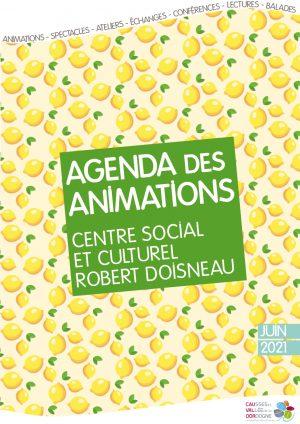 Agenda des animations – Juin 2021