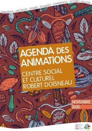 Plaquette des animations du centre social et culturel – Novembre 2020