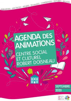 Plaquette des animations du centre social et culturel Robert Doisneau – Septembre 2020