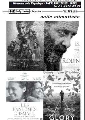 Programme cinéma du 31 mai au 27 juin 2017