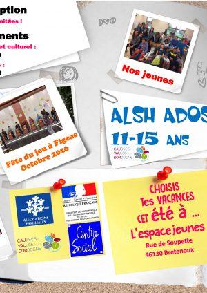 Programme ALSH 11-15 ANS / été 2017
