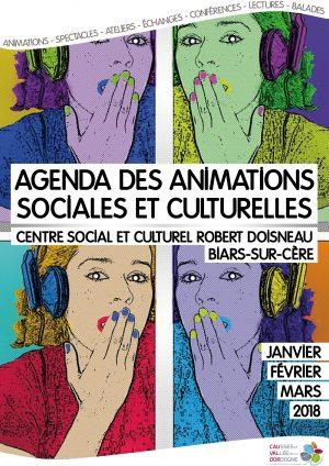 Plaquette des animations sociales et culturelles – Janvier, février, mars 2018