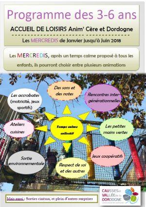 Programme ALSH 3-6 ans – mercredis