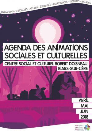 Plaquette des animations sociales et culturelles – avril, mai, juin 2018
