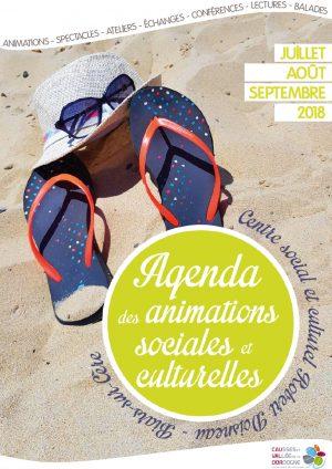 Plaquette des animations sociales et culturelles – juillet, août, septembre 2018