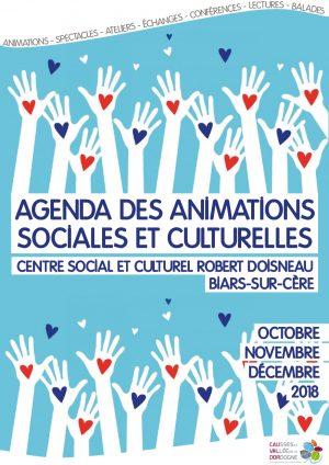 Plaquette des animations sociales et culturelles – octobre à décembre 2018