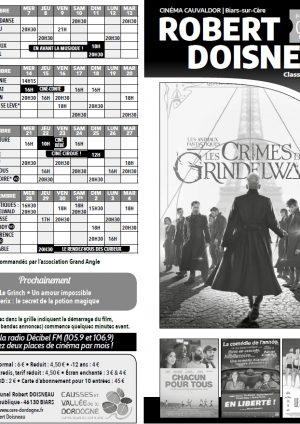 Programme cinéma du 07 novembre au 04 décembre