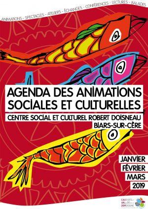 Agenda des animations sociales et culturelles – janvier, février, mars 2019