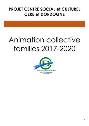 Projet familles 2017-2020