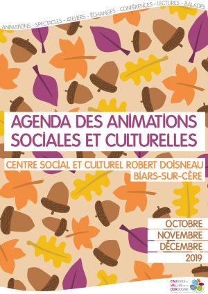 Agenda des animations octobre, novembre, décembre 2019