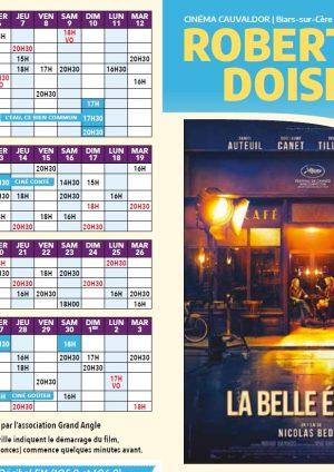 Programme cinéma Robert Doisneau – 06/11/19 au 03/12/19