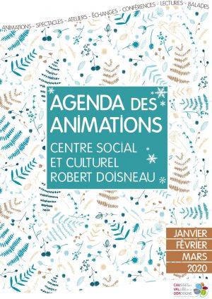 Plaquette des animations du centre social et culturel Robert Doisneau – Janvier, février, mars 2020