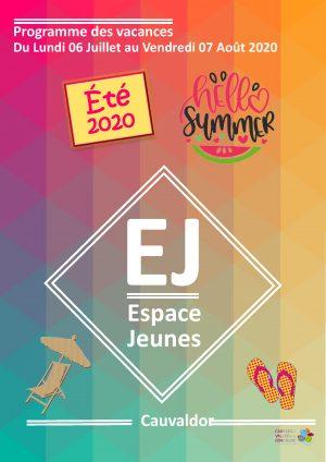 Programme Espace Jeune – Été 2020