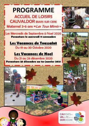 Programme ALSH 3-6 ans, Toussaint – Noël 2020