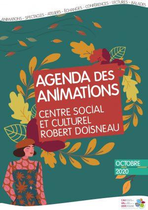 Plaquette des animations du centre social et culturel – Octobre 2020
