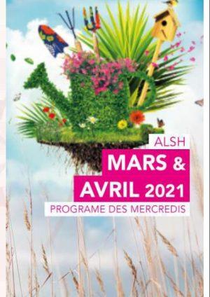 Programme ALSH 3-10 ans les mercredis de mars et avril