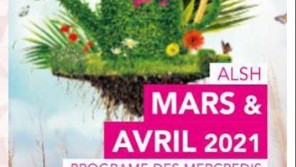Les mercredis de mars et avril 2021