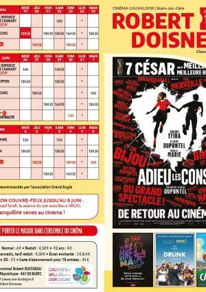 Programme cinéma – 19 mai au 06 juin 2021