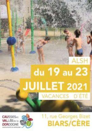 Programme ALSH 3-10 ans, 19 au 23 juillet