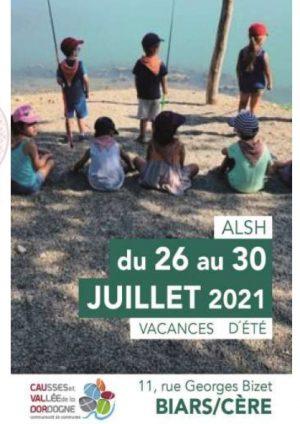 Programme ALSH 3-10 ans, 26 au 30 juillet
