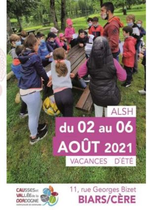 Programme ALSH 3-10 ans, 02 au 06 août