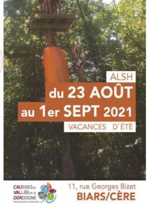 Programme ALSH 3-10 ans, 23 août au 01 septembre