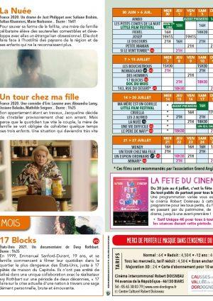 Programme cinéma du 30 juin au 27 juillet