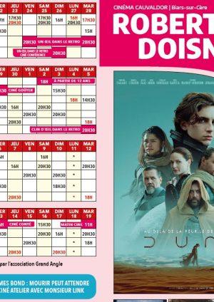 Programme cinéma – 21 septembre au 19 octobre